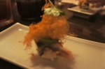 Root Beer Cotton Candy/ Eel Nigiri/ Mitsuba