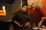 Chef Sinsay describing his experience