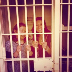 In Jail, just visiting.